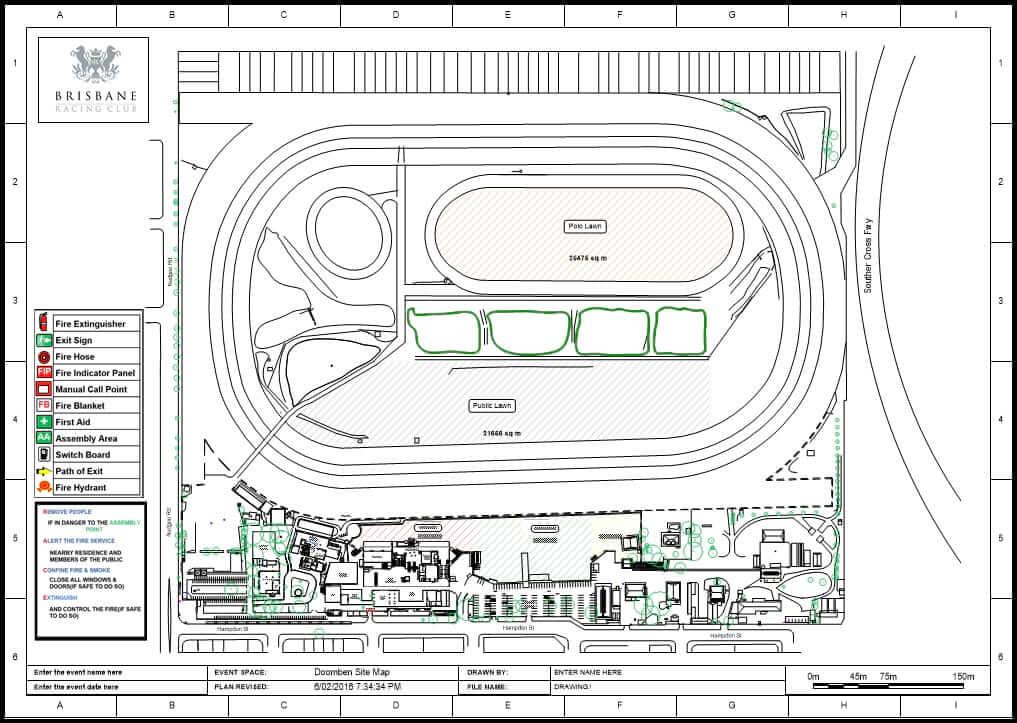 Brisbane Racing Club site plan