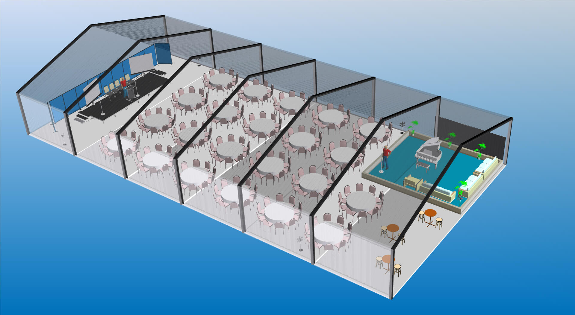 3D marquee plan with Microsoft Visio by CADplanners